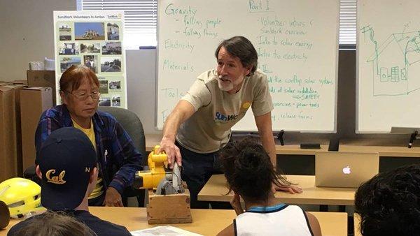 Chris Satterlee Leads SunWork Volunteer Training Activities