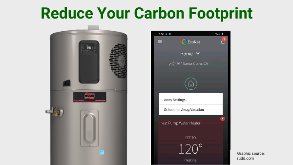 Reducing your carbon footprint with a heat pump water heater